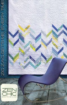 Zig Zag Gets Me Every Time Chevron Quilt Patern- Zen Chic - Modern Quilting - Jelly Roll - Brigitte Heitland - Sphere Fabrics by Moda