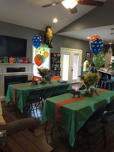 Image result for dinosaur balloon centerpieces