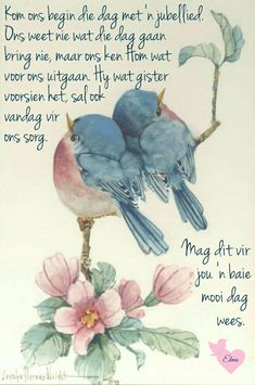 Morning Blessings, Good Morning Wishes, Morning Messages, Lekker Dag, Jesus Book, Pray Continually, Afrikaanse Quotes, Goeie More, Self Pity