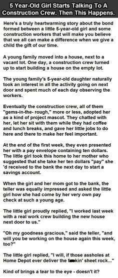5 Year Old Starts Talking To A Construction Crew Then This Happens funny jokes story lol funny quote funny quotes funny sayings joke humor stories funny kids funny jokes<< beautiful really Funny Shit, Funny Cute, Funny Kids, Funny Posts, The Funny, Funny Stuff, Funny Work, Freaking Hilarious, Random Stuff
