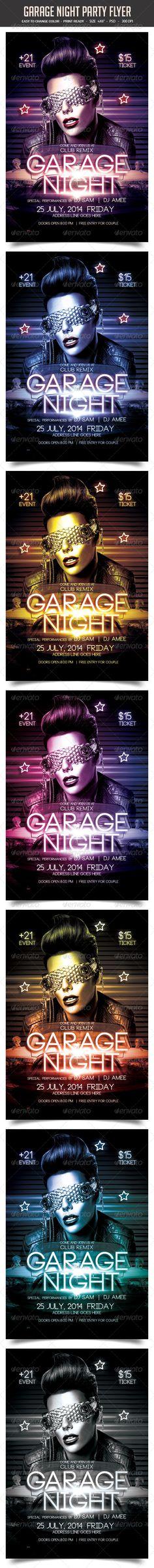 Garage Night Party Flyer