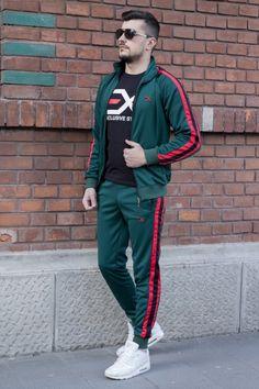 Cautare dupa: Trening EX Verde-Rosu-Negru Track, Suits, Men, Style, Fashion, Lab Coats, Fashion Clothes, Swag, Moda