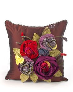 Botanica Small Square Pillow by MacKenzie-Childs