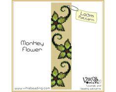 Loom Bracelet Pattern: Monkey Flower - INSTANT DOWNLOAD pdf - Multibuy savings with coupon codes - bl278