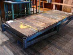 Pallet as a coffee table