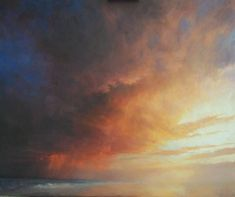 Ken Bushe | The Dimming of the Day. Oil Painting of Sunset #OilPaintingLandscape