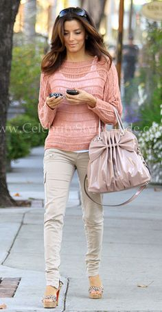 Eva Longoria wore the cute Sanctuary Shasta Sweater leaving a hair salon after getting a hair cut in Beverly Hills March 3, 2012