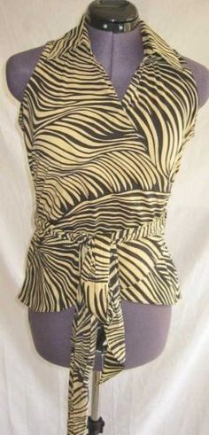 30006638e92efc Halter Animal Print Regular Sleeve Tops   Blouses for Women. SexyWrap  ShirtVintage ...