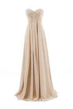 (This is an affiliate pin) Chiffon Long Bridesmaid Dresses Sweetheart Prom Evening Gowns Party Formal Plus Size Dress