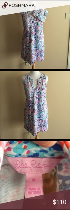 Lilly Pulitzer mommy and me set EUC women's dress in xl and girls shorts size 7 both in shell me about it print Lilly Pulitzer Dresses Midi