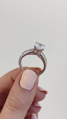 Melanie Engagement Ring set with a Princess Cut Lab Grown Diamond in White Gold. Man Made Diamonds, Lab Created Diamonds, Dream Engagement Rings, Engagement Ring Settings, White Gold Rings, Silver Rings, Thing 1, Best Diamond, Diamond Jewellery