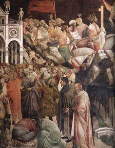Agnolo Gaddi - La Leggenda della vera Croce: 4 - Decapitazione di Cosroe e…