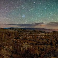 Sunset Point in Bryce Canyon National Park at 1:00 am.  I saw more stars here than I've ever seen. It was just incredible.