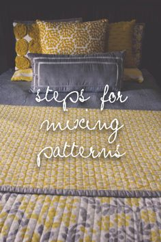 playing with patterns // mixing patterns using blankets, pillows and quilts // the logbook