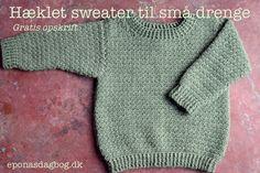Hæklet sweater til små drenge, eller piger Crochet For Boys, Diy Crochet, Crochet Baby, Formal Dresses For Weddings, Newborn Crochet, Baby Sweaters, Diy Baby, Baby Sewing, Crochet Clothes