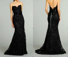 Reception Dress. Black sexy lace  wedding dress long Lace Prom / Ball / Homecoming / Cocktail / Evening / Formal /Party Dress