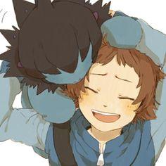 Hilbert smiling at Deino