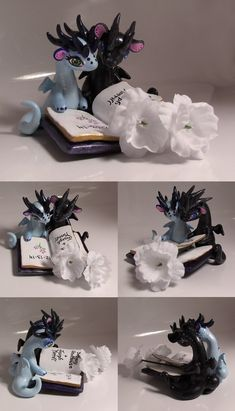 Amazing dragon wedding cake topper. The artist starts taking ...
