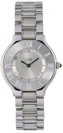 W10109T2  NEW CARTIER LIGNE 21 MUST DE CARTIER LADIES WATCH  .. I don't where watches but when I do I would like this one! :))