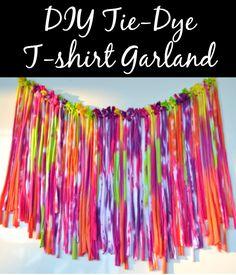 DIY Fringed Garland #tiedyeyoursummer #tdys