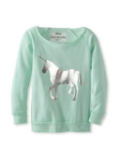 Mini Fashionista Girl's Unicorn Sweatshirt at MYHABIT... Love this adorable sweatshirt. MM xmas