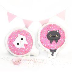 Donut Cat Pillow