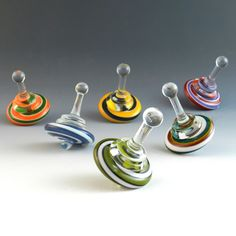 Spinning Tops by Garrett Keisling: Art Glass Tops available at www.artfulhome.com