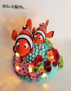 Clownfische mit Riff