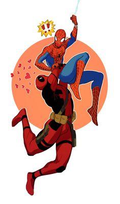 #Deadpool #Fan #Art. (Spideypool) By: Vythefirst. (THE * 5 * STÅR * ÅWARD * OF: * AW YEAH, IT'S MAJOR ÅWESOMENESS!!!™)[THANK U 4 PINNING!!!<·><]<©>ÅÅÅ+