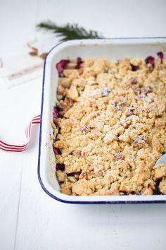 Rezept Apple Crumble mit Zimtsternstreuseln / Best Apple Crisp Recipe. Weihnachtsdessert Weihnachtsfrühstück Apfelrezept Apfelcrumble Zuckerzimtundliebe