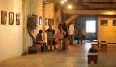 Exposição nos corredores da Bhering. Foto: Facebook Antiga Fábrica da Bhering