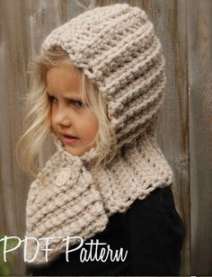CROCHET PATTERN Hadyen Hood Toddler Child Adult by Thevelvetacorn