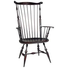 """Mass. Fanback Arm Windsor Chair  No. 1081 How To Acquire » 1081 Dimensions & OptionsWoods & Finishes Height: 46 1/2"""" Width: 29 3/4"""" Seat Height: 18"""" Seat Width: 23 1/2 """" Seat Depth: 17"""""""