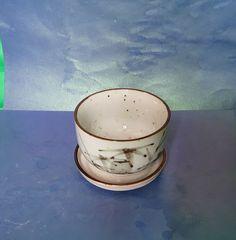Vintage Scandinavian Pottery Ceramic CUP & SAUCER pair set #MidCenturyModern