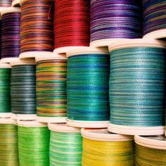 i love variegated thread use it mostly in embroidery Yarn Thread, Thread Spools, Dj Like, My Love, Crayon Box, Embroidery Thread, Sewing Crafts, Crafty, Quilts