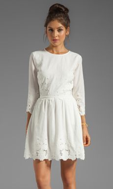 Dolce Vita Val Sunflower Lace Dress in Frost   REVOLVE