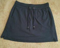 Women's Green Tea skort size small  Navy Blue  cotton blend  built-in shorts