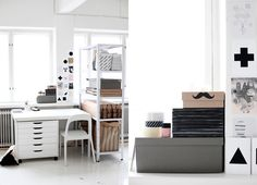 office inspiration, desk, organising.