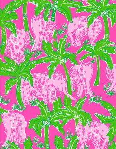 Lilly Pulitzer elephant print pink and green Lilly Pulitzer Patterns, Lilly Pulitzer Prints, Lily Pulitzer, Elephant Pattern, Elephant Print, Elephant Fabric, Elephant Walk, Pink Elephant, Trendy Wallpaper