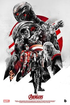 Avengers Age of Ultron by Rich Davies  Fantastic technique coupled with an ambitious and poignant composition