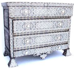 syrian mother of pearl inlay furniture