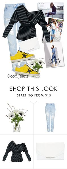 """Bez naslova #2123"" by suzieq-suzieq ❤ liked on Polyvore featuring LSA International, Topshop, Khirma Eliazov and Golden Goose"