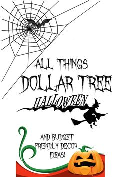 Over 100+ Halloween decor and budget friendly dollar tree ideas, craft stores and more. Get your Halloweeny on!