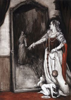 "illustrations by Santiago Caruso for ""The Bloody Countess."""