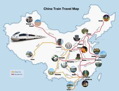 China Train Travel Map