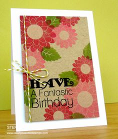Stephanie W - love the bright colors stamped on kraft. . .