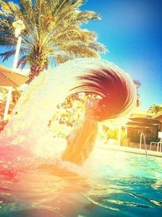 Flip your hair, skip, cannon ball, cartwheel, splash... enjoy every moment this summer.