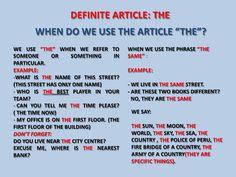 """Definite article """"the"""""""
