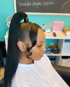 Hairstyles For Black Women .Hairstyles For Black Women Black Ponytail Hairstyles, Hair Ponytail Styles, Weave Ponytail Hairstyles, Prom Hairstyles For Short Hair, Sleek Ponytail, Baddie Hairstyles, Curly Hair Styles, Natural Hair Styles, Ponytail With Weave