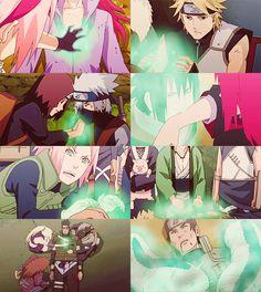 Medical Ninjutsu. (tags): karin uzumaki, sakura haruno, asuma, ino, choji, shikamaru, tsunade, shizune, katsuyu, sasuke uchiha, rin, kakashi, naruto